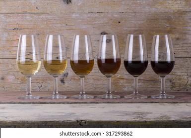 Sherry wine range