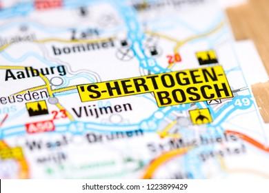 's-Hertogenbosch. Netherlands on a map