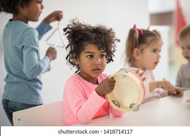 She's got natural-born musical talent. Children in preschool.