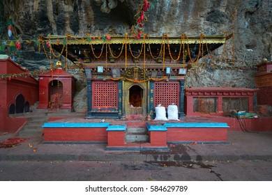 Sheshnarayan Temple in Pharping, Nepal. Here is one of Guru Rimpoche Cave.