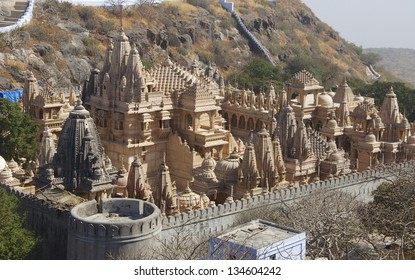 Sheth Motishaw Tonk, Mount Shatrunjaya, Palitana, Gujarat, India - known as Shri Shatrunjaya Tirtha. Important temples and shrines of the Jain religion.