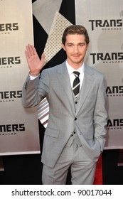 "Shia LaBeouf at the Los Angeles premiere of his new movie ""Transformers: Revenge of the Fallen"" at the Mann Village Theatre, Westwood. June 22, 2009  Los Angeles, CA Picture: Paul Smith / Featureflash"