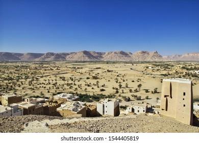 Shibam, Hadramaut / Yemen - 31 Dec 2012: The city of medieval skyscrapers, Shibam, Wadi Hadramaut, Yemen