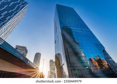 "SHIBUYA, TOKYO / JAPAN - NOVEMBER 1 2019 : On November 1, 2019, ""Shibuya Scramble Square"" opens. A new landmark was born in front of Shibuya Station."