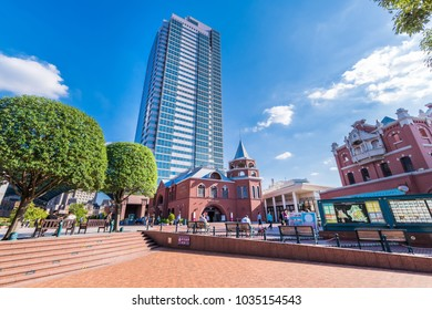 "SHIBUYA, TOKYO / JAPAN - SEPTEMBER 29 2017 : ""Ebisu Garden Place"" is a complex built in the premises of the Sapporo Beer Factory. Department stores, office buildings, restaurants, museums and so on."