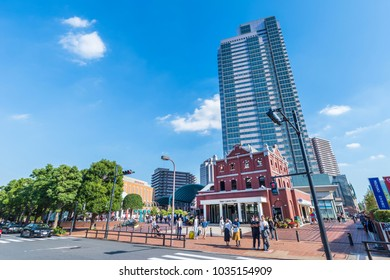 """SHIBUYA, TOKYO / JAPAN - SEPTEMBER 29 2017 : """"Ebisu Garden Place"""" is a complex built in the premises of the Sapporo Beer Factory. Department stores, office buildings, restaurants, museums and so on."""