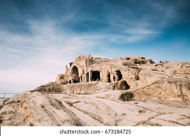 Shida Kartli Region, Georgia. Temple With Coffered Ceilings In Famous Landmark Uplistsikhe. Uplistsikhe Is An Ancient Rock-hewn Town In Eastern Georgia. UNESCO World Heritage Site.