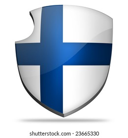 Shield icon flag of Finland.