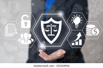 Shield scales justice security business computer web concept. Judicial balance icon safety judge internet court tribunal law protection technology