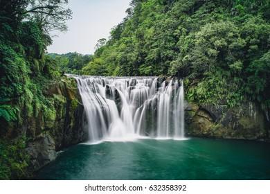 Shifen Waterfall in Pingxi District, New Taipei, Taiwan.