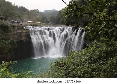 Shifen waterfall in Taipei, Taiwan