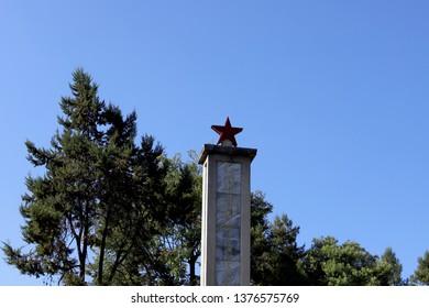 Shigu, Yunnan, China - November, 2018. The Red Army's Long March Memorial Monument in Shigu, Yunnan, China