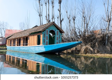 A Shikara boat in Srinagar, Jammu and Kashmir, India