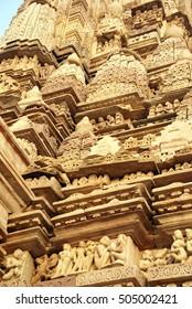 Shikara decoartions on the  Parsavanatha, Jain Temple Khajuraho,  India