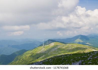 Shikoku karst in Shikoku Japan