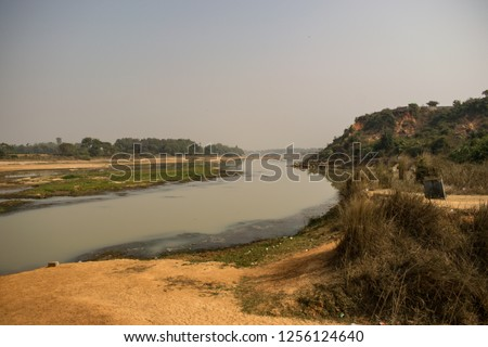 """Shilabati river"" flowing through the beautiful landscape at ""Gangani"", Garbeta, West Bengal,  India."