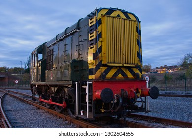 SHILDON, COUNTY DURHAM, UK - OCTOBER 20, 2012: BR Class 08 Shunter No. D4157 stands in the yard at NRM 'Locomotion' Shildon.