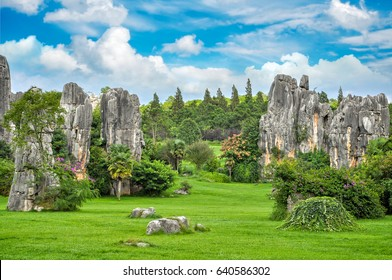 Shilin - Stone forest national park reserve in Kunming, Yunnan, China