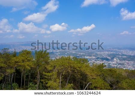 Shillong,Meghalaya -03/25/17 : Shillong peak .