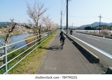 The Shimanami Kaido is a 60 kilometer long toll road that connects Japan's main island of Honshu to the island of Shikoku, passing .Cycling is a popular means of experiencing the Shimanami Kaido. The