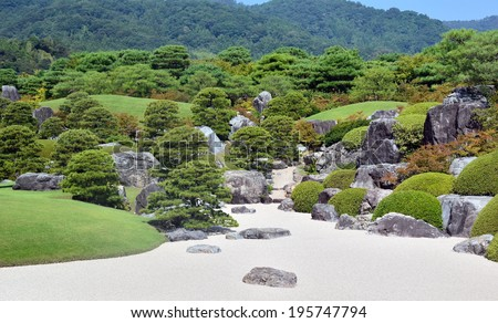 SHIMANE, JAPAN   AUGUST 12: Japanese Garden Of Adachi Museum On August 12,