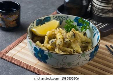 shimeji karaage, japanese deep fried mushroom