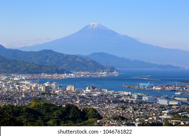 Shimizu Port, Suruga Bay and Mount Fuji, Japan Shizuoka Prefecture of Japan