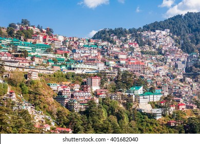 Shimla aerial view, it is the capital city of the Indian state of Himachal Pradesh, located in northern India.