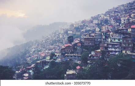 shimla city view in the evening
