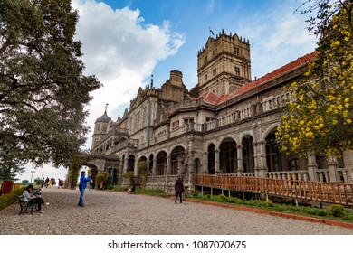 Shimla, Himachal Pradesh, India - March 6, 2016 : The Indian Institute of Advanced Study (before the Viceregal Lodge) is a research institute based in Shimla, India.