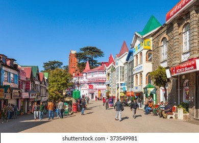 SHIMLA, INDIA - NOVEMBER 05, 2015: The Ridge road is a large open space, located in the heart of Shimla, the capital city of Himachal Pradesh, India.