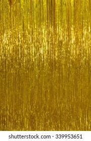 shimmer shiny golden tinsel background