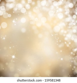 Shimmering blur spot lights on abstract background
