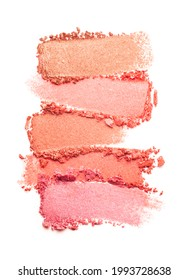 Shimmering blusher palette isolated white background medium color