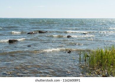 Shimmering coast by the Baltic Sea in Sweden