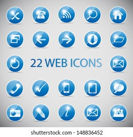 Shine glossy computer icon  illustration