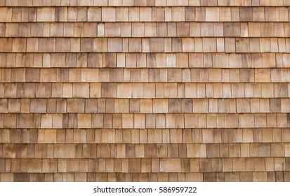 shingle wooden roof tile background