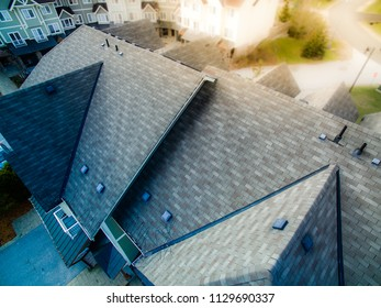 shingled roof abstract closeup view