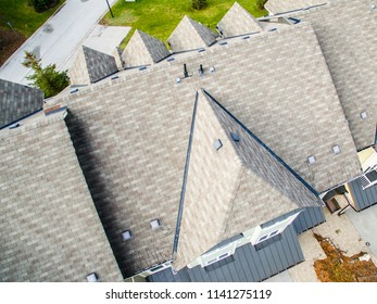 shingled roof closeup view
