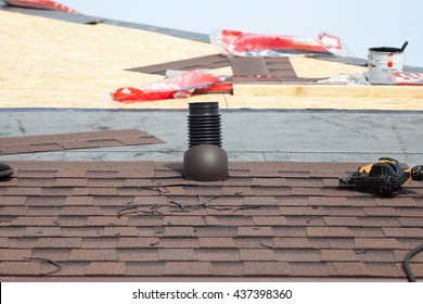 Shingles  roof ventilation for heat control with nailgun