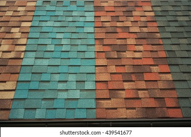 Shingles samples on roof