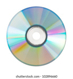 Shining CD for the computer on a white background
