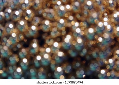 Shining Christmas decorative baubles  as a defocused background