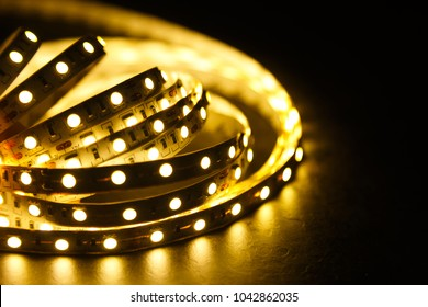 Shining diode strip. LED lights tape.
