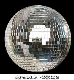Shining Disco Ball isolated on black background