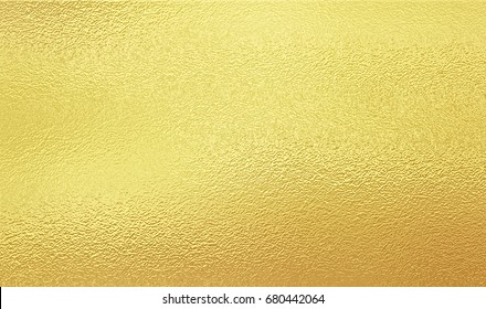 Shining gold foil. Yellow metallik texture background.