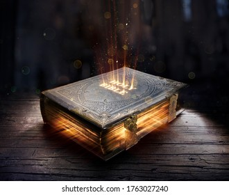 Shining Holy Bible - Ancient Book On Old Table  - Shutterstock ID 1763027240