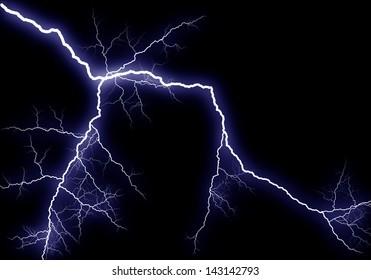 Shining lightning, generated illustration