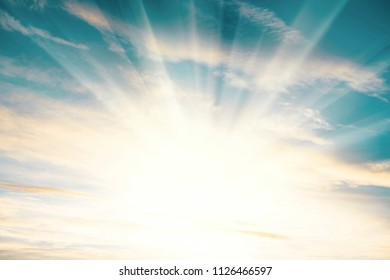 shining sun and sky in the summer