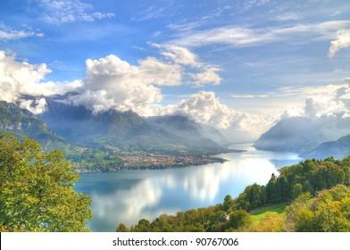 shining view on lake Como